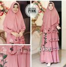 Gamis Rose Bordir Plus Jilbab